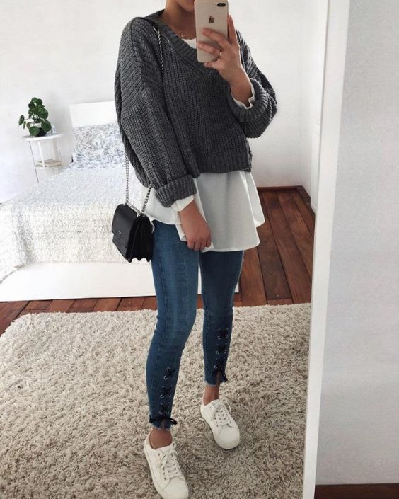 Отличные повседневные образы с джинсами 1
