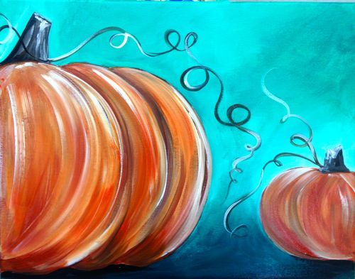easy acrylic pumpkin paintings - Google Search