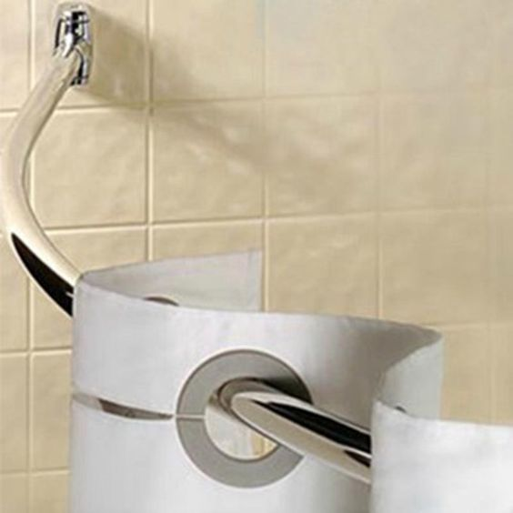 Functional Curved Shower Curtain Rod - curved double shower ...