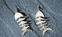 Bombolulu Kenyan Fish Earrings, Silver-plated--$16.75