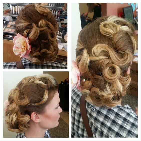 Retro bridal hair by Marissa