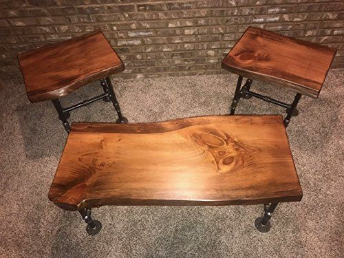 Danville Black Marble Stone Wood Coffee Table Black Marble