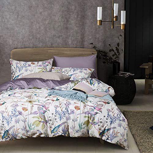 Wake In Cloud Birds Duvet Cover Set Sateen Cotton Bedd Https Www Amazon Com Dp B07fvtg97w Bird Duvet Covers Duvet Cover Sets Bedroom Design Inspiration