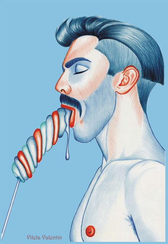 Your Sweet Mashmallow - Pencil on paper - Vilela Valentin