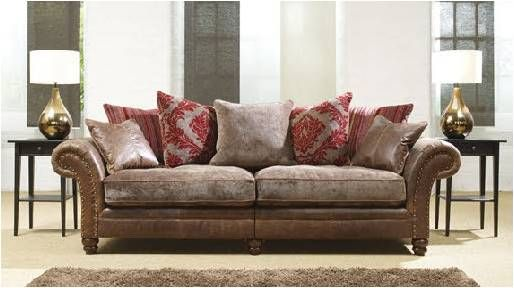 Awesome Leather And Velvet Sofa Fresh