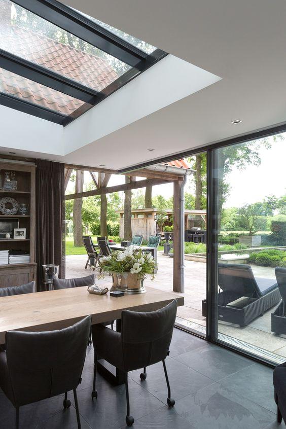 moderne serre met minimal windows serre met lichtstraat hh huisdroom pinterest window. Black Bedroom Furniture Sets. Home Design Ideas