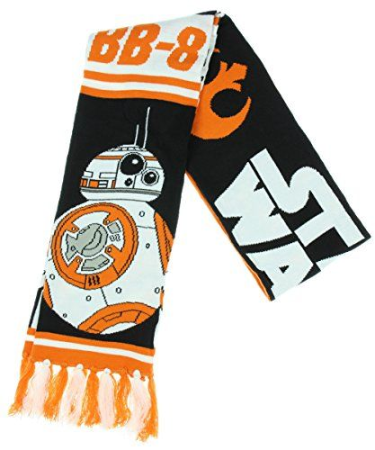 Star Wars Episode 7 BB-8 Winter Scarf - Officially Licensed Star Wars Episode VII BB-8 6 Feet Long and 8 Inches Wide Scarf with allover print featuring BB-8 droid.