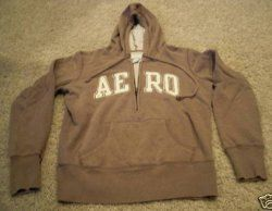 Aeropostale Hoodie Junior Girls Size Small Brown Color