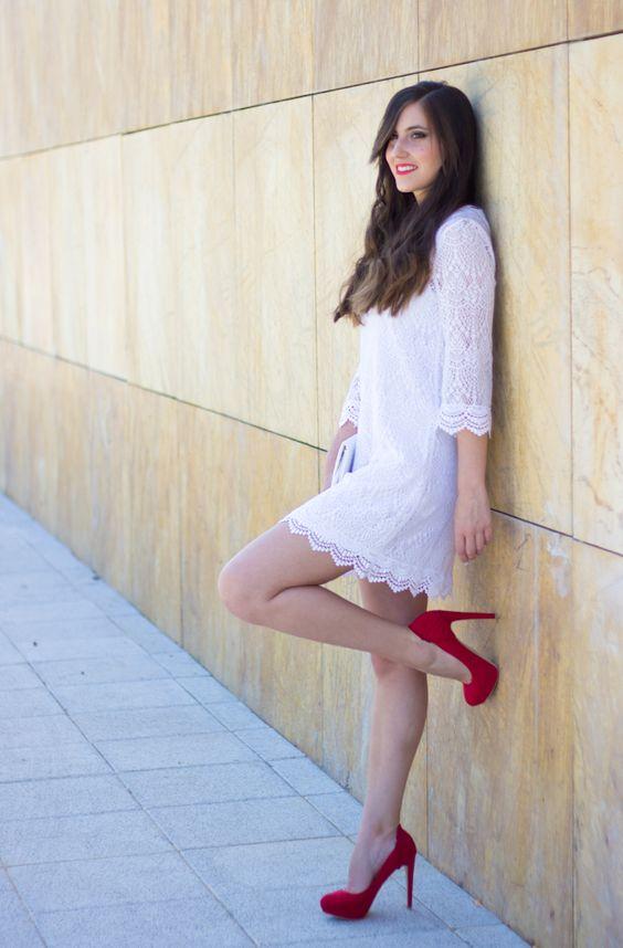 RED POWER 30-6-2014  Vestido/Dress – H&M (ss 14) Tacones/Heels- Bershka Bolso/Bag – Primark