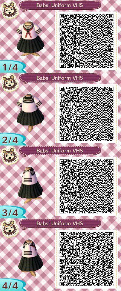 Qr Code For Babs Uniform From Vampire High School In Animal