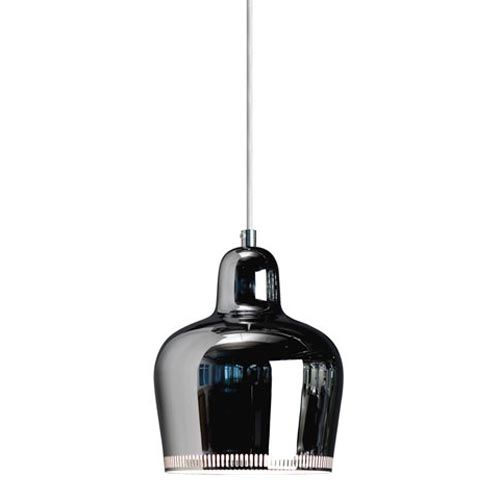 Alvar Aalto Golden Bell pendant light (chrome)