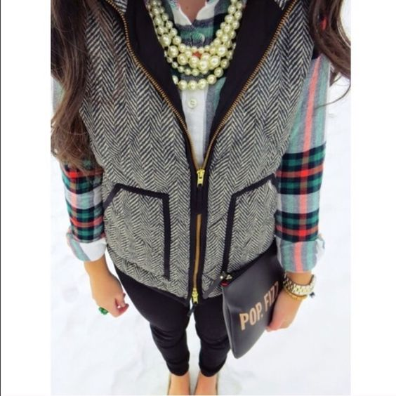J. Crew herringbone vest The much coveted and iconic vest from J. Crew factory. Sold out! Brand new in packaging. Price firm, please don't ask to trade.  No bundle discount on this item. Thanks! J. Crew Jackets & Coats Vests
