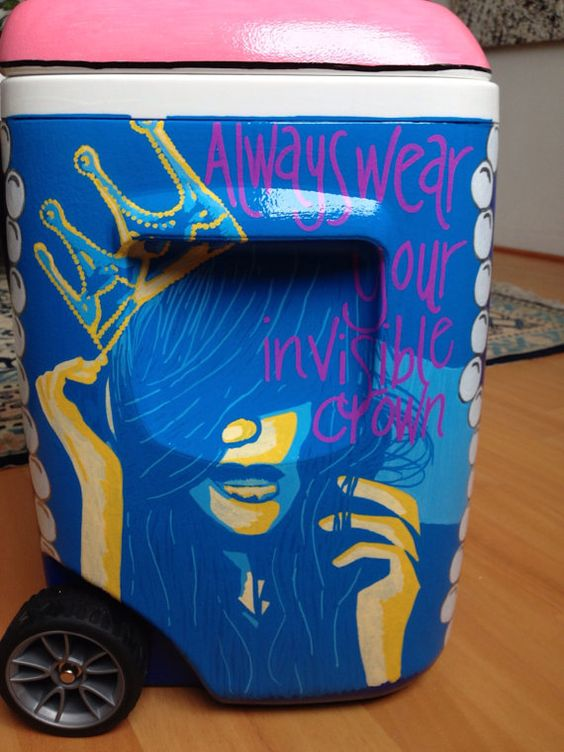Diy Painted Cooler : Custom painted coolers i wonder how diy able this is
