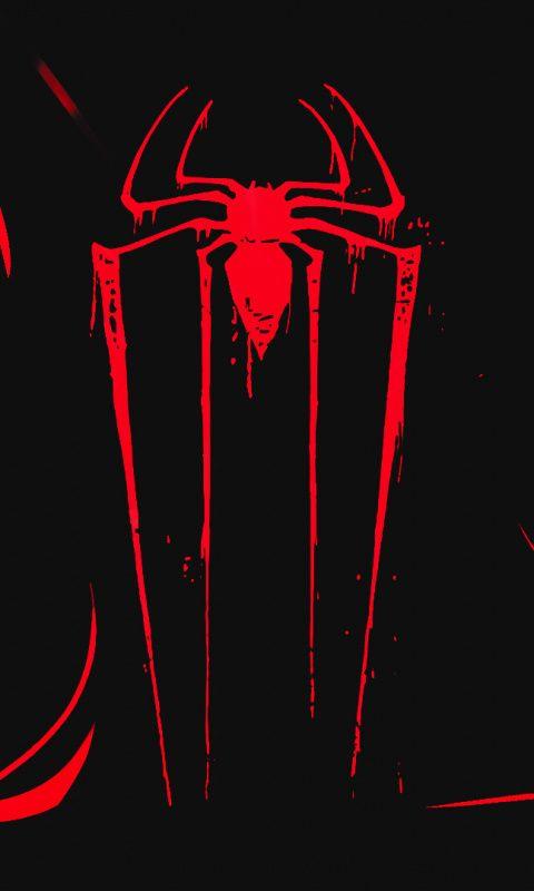 Logo Minimal Spider Man Dark 480x800 Wallpaper 480x800 Wallpaper Superhero Wallpaper Spiderman