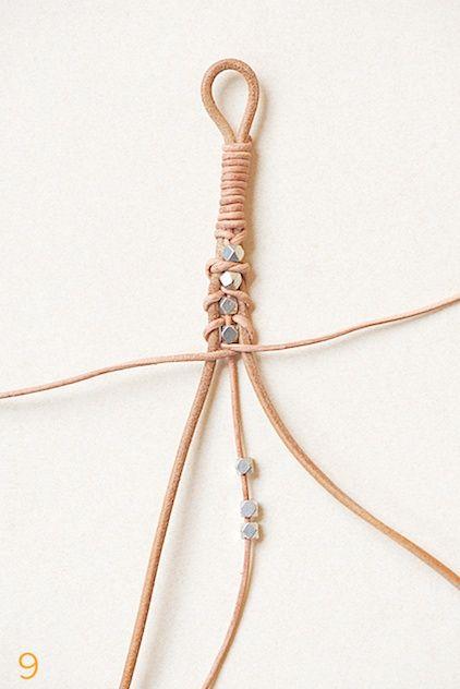 leather bracelet tutorial by lebenslustiger, Lederarmband selbermachen