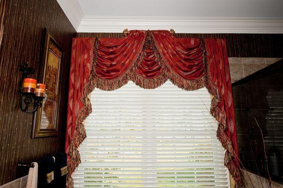 Raised Center Swags And Cascades Window Treatment I Drapery 8 Swag Pinterest Window