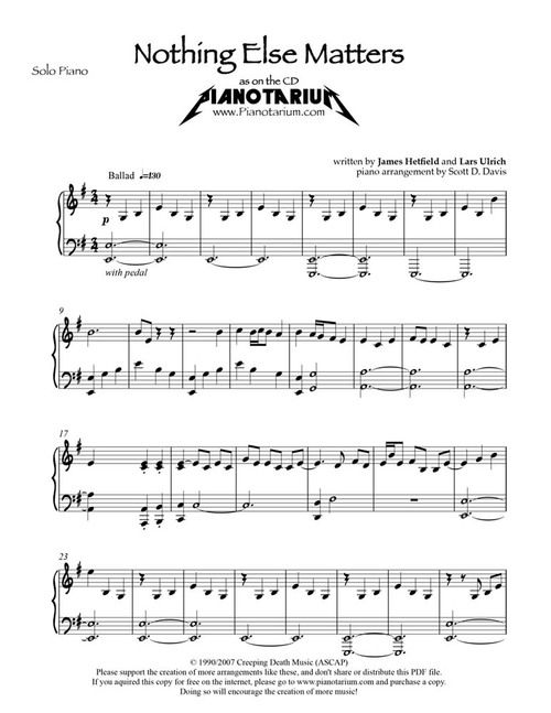 Nothing Else Matters Pdf Download With Images Guitar Lessons