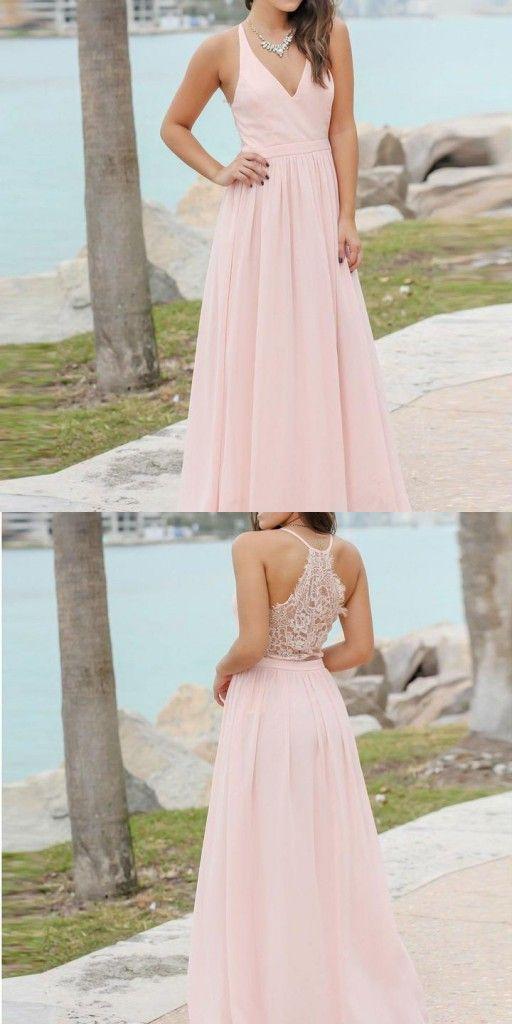 Gunstige Brautjungfernkleider Lang Dunkelblau Chiffon Kleider Brautjungfern Rosa Dresses Formal Dresses Long Formal Dresses