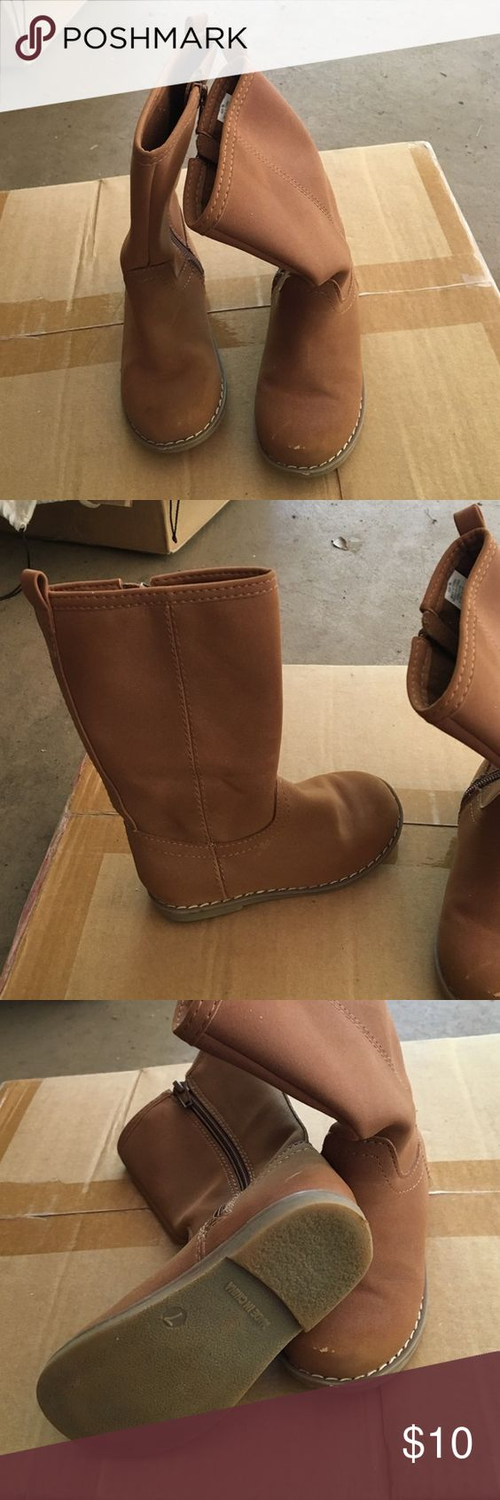 Girls Gap boots Side zip with slight wear on toes. Toddler size 7. Gap Shoes Winter & Rain Boots