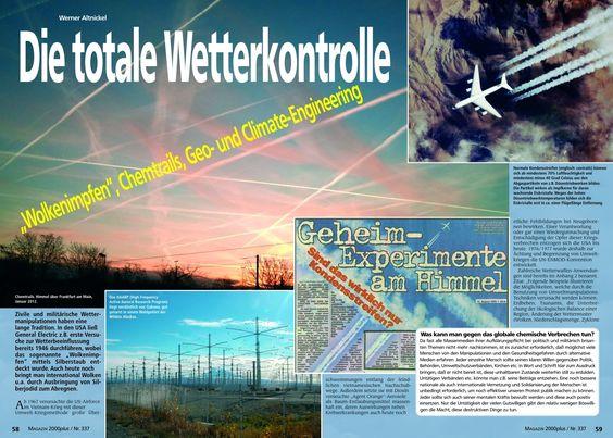"""""""Grüner« Werner Schulz (M.E.P.) sagt, daß Geoengineering am Himmel bereits angewendet wird!"""