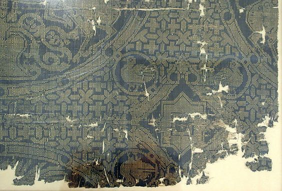 Textile with Birds and Horned Quadrupeds Flanking a Tree of Life Object Name: Fragment Date: 11th–12th century Geography: Iran Culture: Islamic Medium: Silk; warp faced plain weave