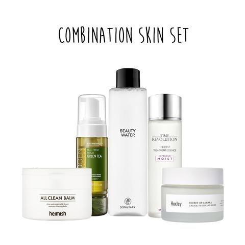 5 Steps Combination Skin Set Skin Cleanser Products Combination Skin Korean Skincare Routine