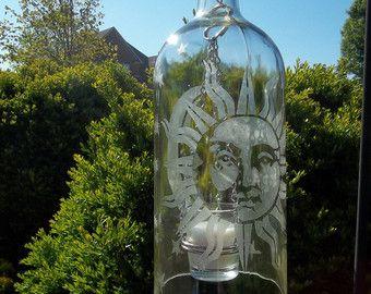 Reutilizar / linterna de botella de vino por Blumoonstudio en Etsy