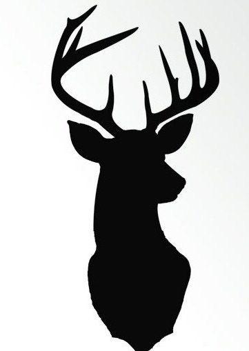 stag deer silhouette crochet graph  chart pattern
