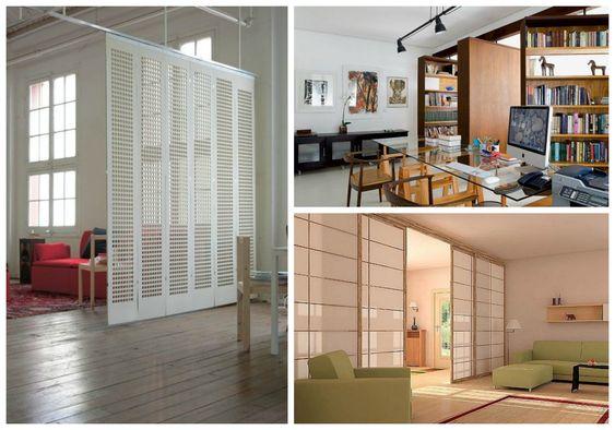 03 separar ambientes sin paredes puertas correderas for Mamparas para dividir ambientes