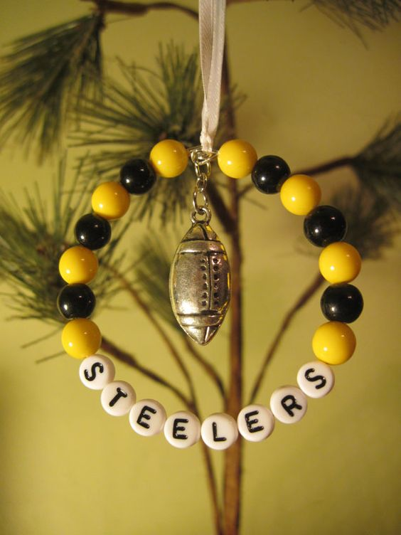 Pittsburgh Steelers Christmas Ornament by FoxysFunDangles on Etsy ...