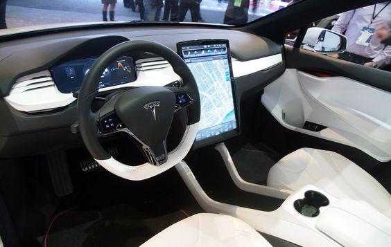Interior del Model X de Tesla