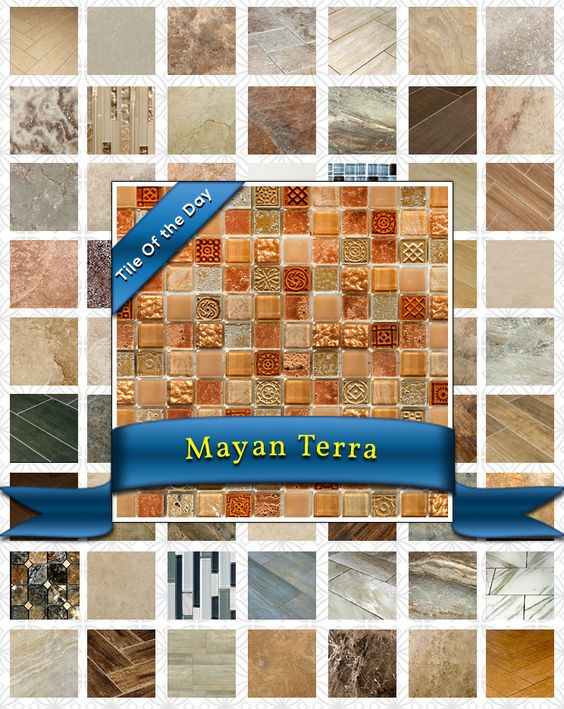 Fresh off an international flight back to the US, you spend your afternoons reflecting on all of the beauty you experienced there: the Amazon River in Brazil, the glaciers in Argentina, and most of all, the Mayan ruins in Guatemala. . Glittering in rust and gold hues and sprinkled with simple patterns, the Mayan Terra mosaic tile is the perfect addition to your home. Featuring both glass and stone, this mosaic brings the splendor of traditional Mayan culture straight into your life. $12.50