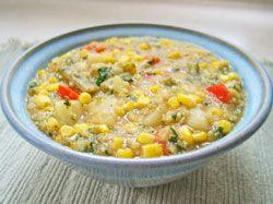 Crockpot Quinoa Corn Chowder
