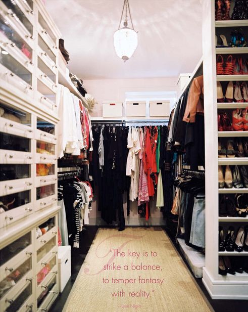 Sweet closet fantasy--just needs to be 4ft wider and have a storage island in the centre. Ginger Brewton.