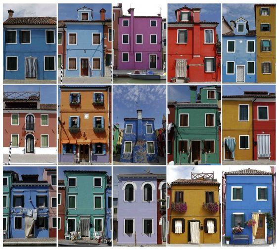 Una composizione di facciate delle case di Burano, Venezia, 25 agosto 2014 (reuters)