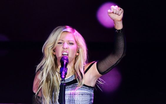 "Ellie Goulding lets her fire ""Burn"" during a heated performance on Oct. 31 in Milan"