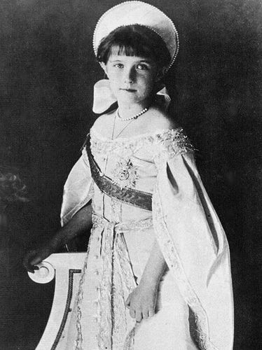 Grand Duchess Anastasia Nikolaevna youngest daughter of Tsar Nicholas II, born in Tsarskoe Selo in 1901, murdered by the Bolsheviks with her family on July 17, 1918 in Ekaterinburg from the Romanov family