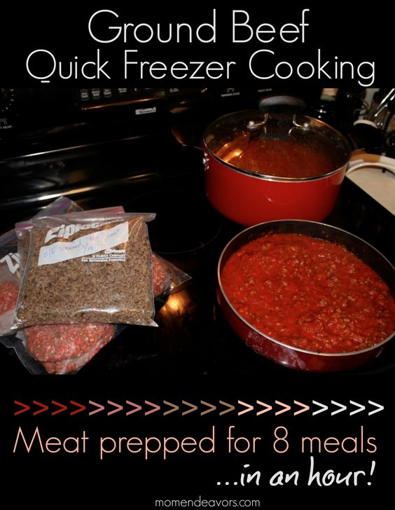 Do a quick bulk cooking session to save time & money! Meat prepped for over 8 meals in an hour with only 2 dirty pans! via momendeavors.com