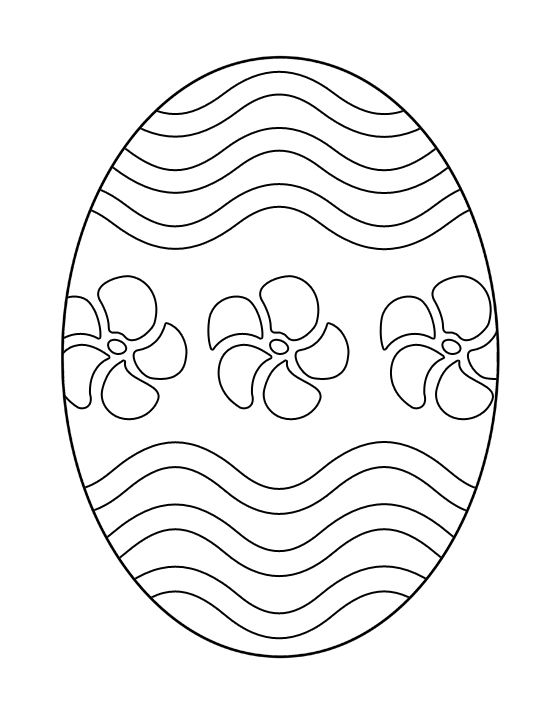 Printable Easter Egg - Coloring Page