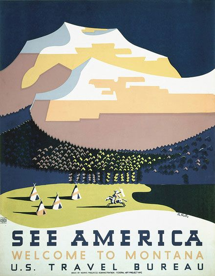 Works Progress Administration (WPA) posters from the archive of The Library of Congress