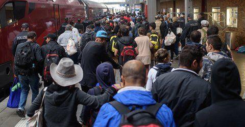 Flüchtlingsankunft Münchner Hauptbahnhof