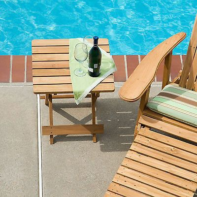 Sidetable Pool Adirondack Furniture Side Table Folding Chairs Stools Quick Fold