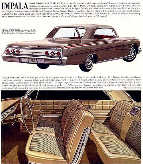 Chevrolet 1962 Classic Cars Chevy Chevy Vehicles Chevrolet Impala