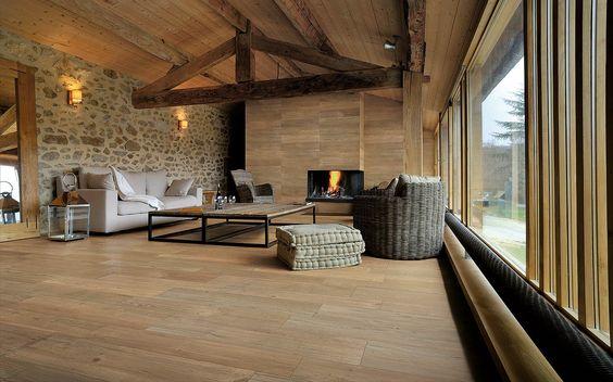 Carrelage imitation bois sol int rieur settecento vintage for Carrelage aubade