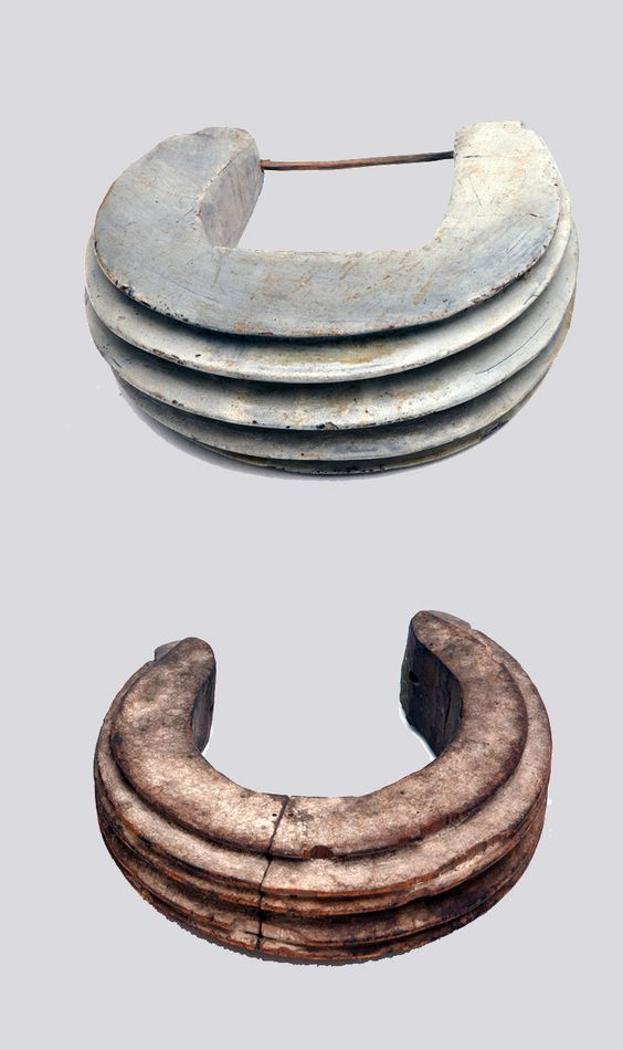 Cameroon | Torque from the Fang people | Top) collected in 1939 and bottom) collected 1900 - 08