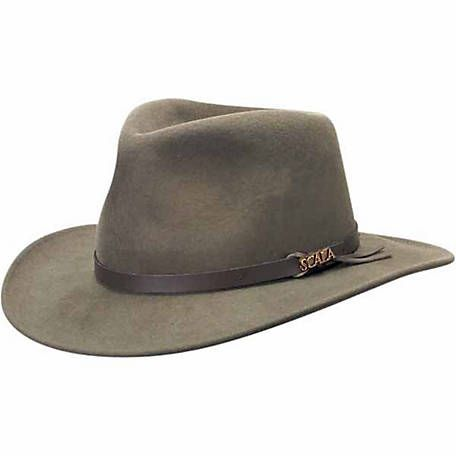 Dorfman Pacific Wool Felt Crushable Outback Hat Khaki Tscdf6 At Tractor Supply Co Mens Hats Fashion Hats For Men Outback Hat