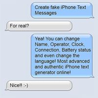 Make your own text conversation
