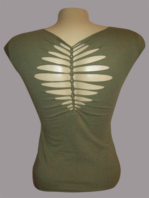 Juniors / Womens Olive Top Special Cut Shirt by LasciviousGrace