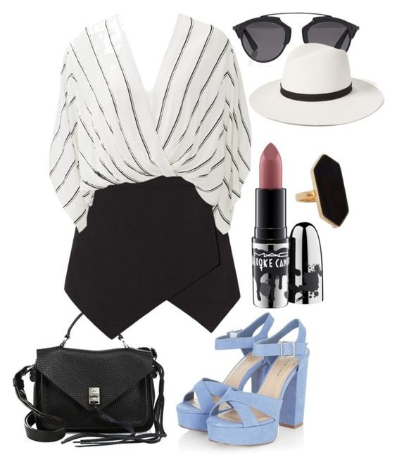 """""""Ivy"""" by littlemoon-19 ❤ liked on Polyvore featuring Rebecca Minkoff, Free People, Christian Dior, MAC Cosmetics, Janessa Leone and Jaeger"""