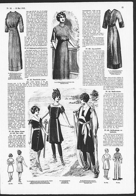 Gracieuse. Geïllustreerde Aglaja, 1912, aflevering 10, pagina 13 - still dark coloured stockings